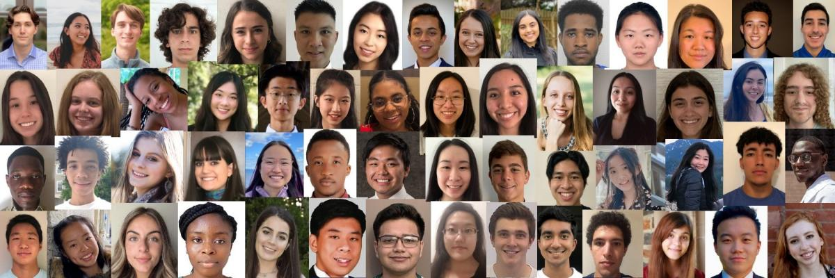 Composite of head shots of Code+ 2021 students