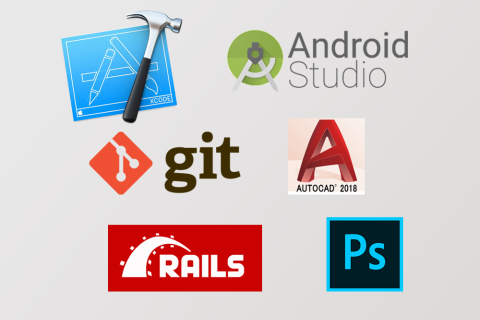 logos of various tools code+ interns may use