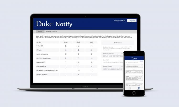 Duke Notify App